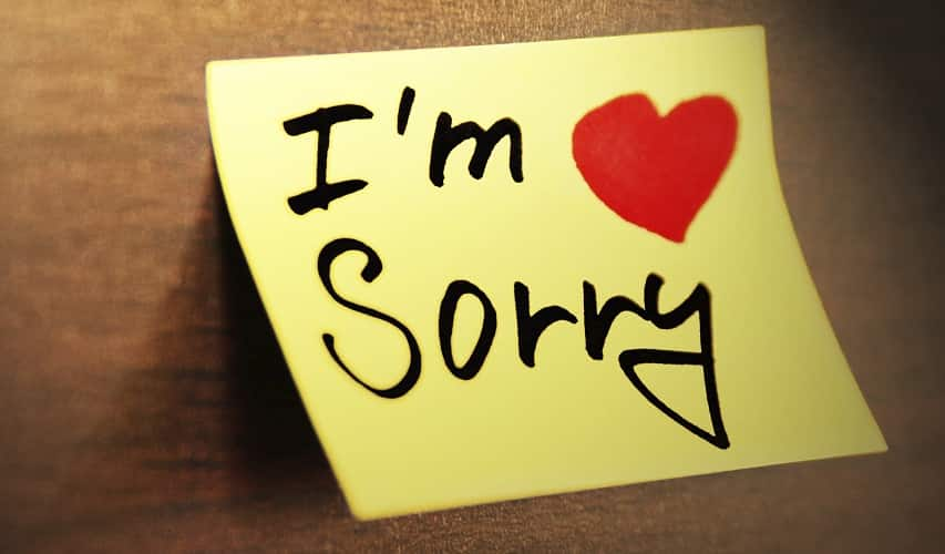 Sorry from heart