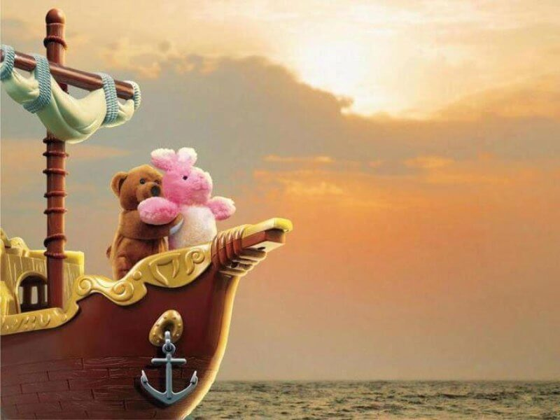 Teddy bear titanic love