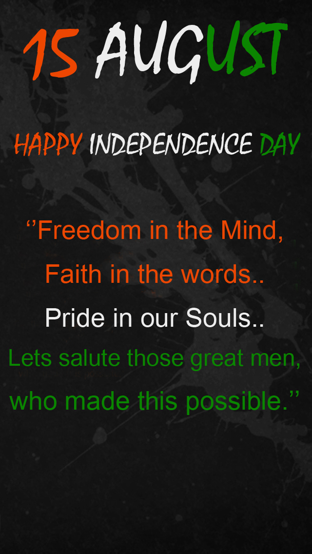 Great Solute this independence day