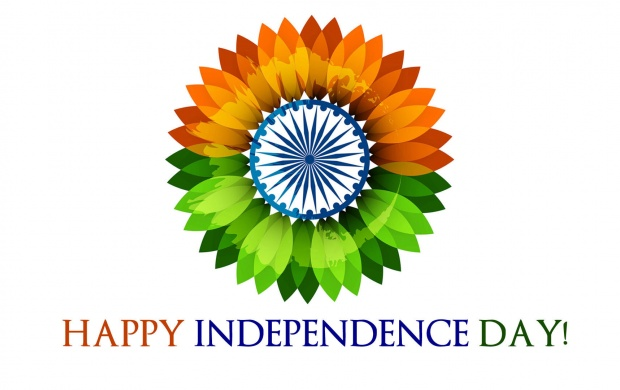 Happy Independence Day Flower