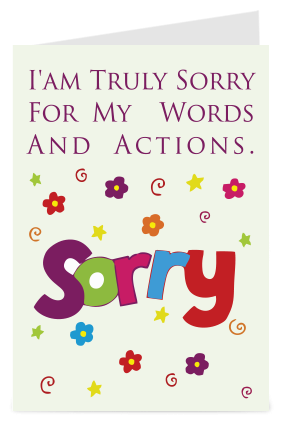 Truly sorry