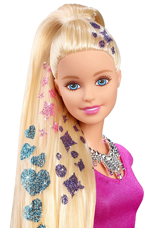 Glitter hair doll