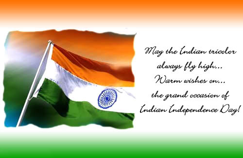 Warm regards on independence day
