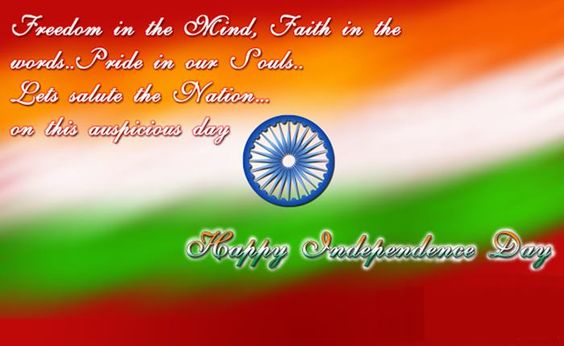 Independence and auspicious day