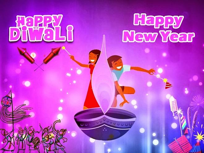 Happy New Year Wallpaper Diwali