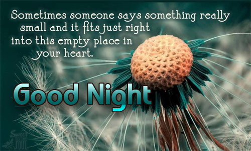 Good night from heart