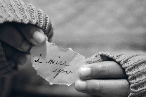 I miss you paper
