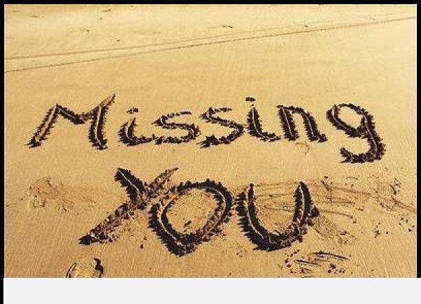 Missing you sand
