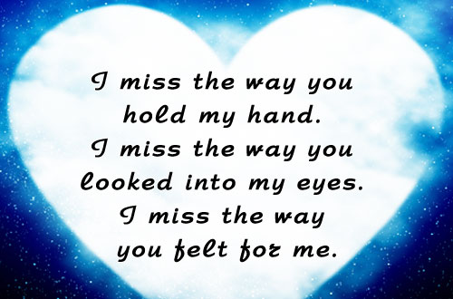I feel missed
