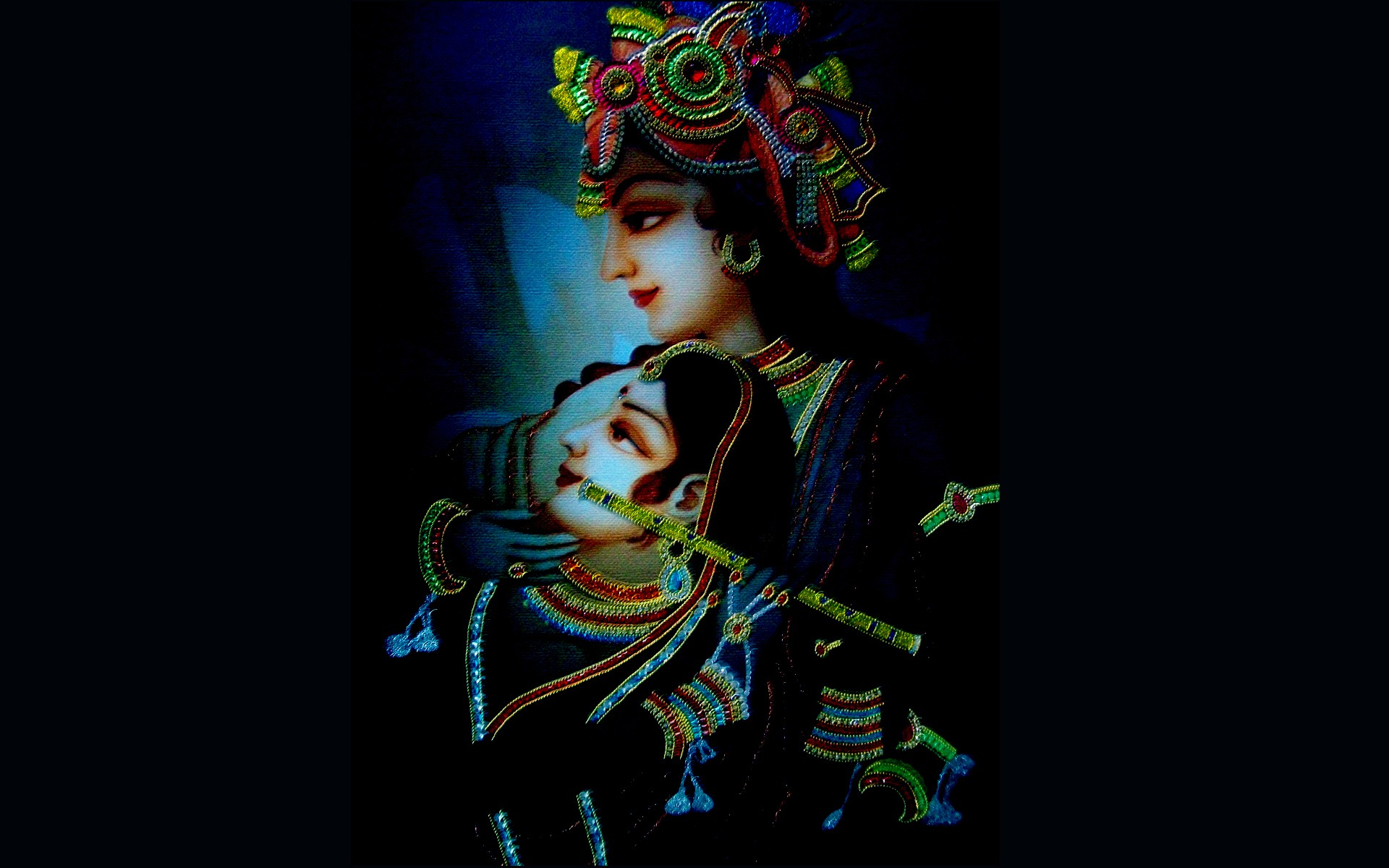 Radha-Krishna-Ornaments-Dark - Wallpaper and Images Collection