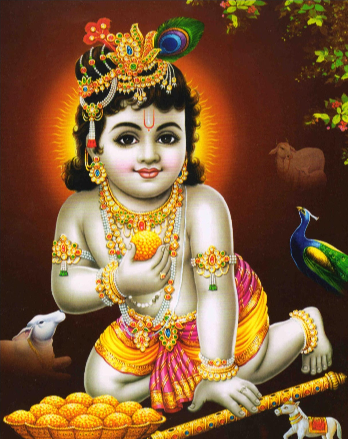 Cute Shri Krishna Wallpaper And Images Collection