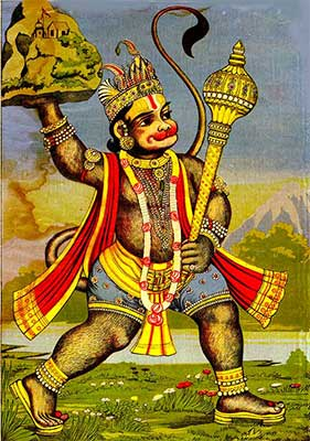 Unique pic of Hanuman
