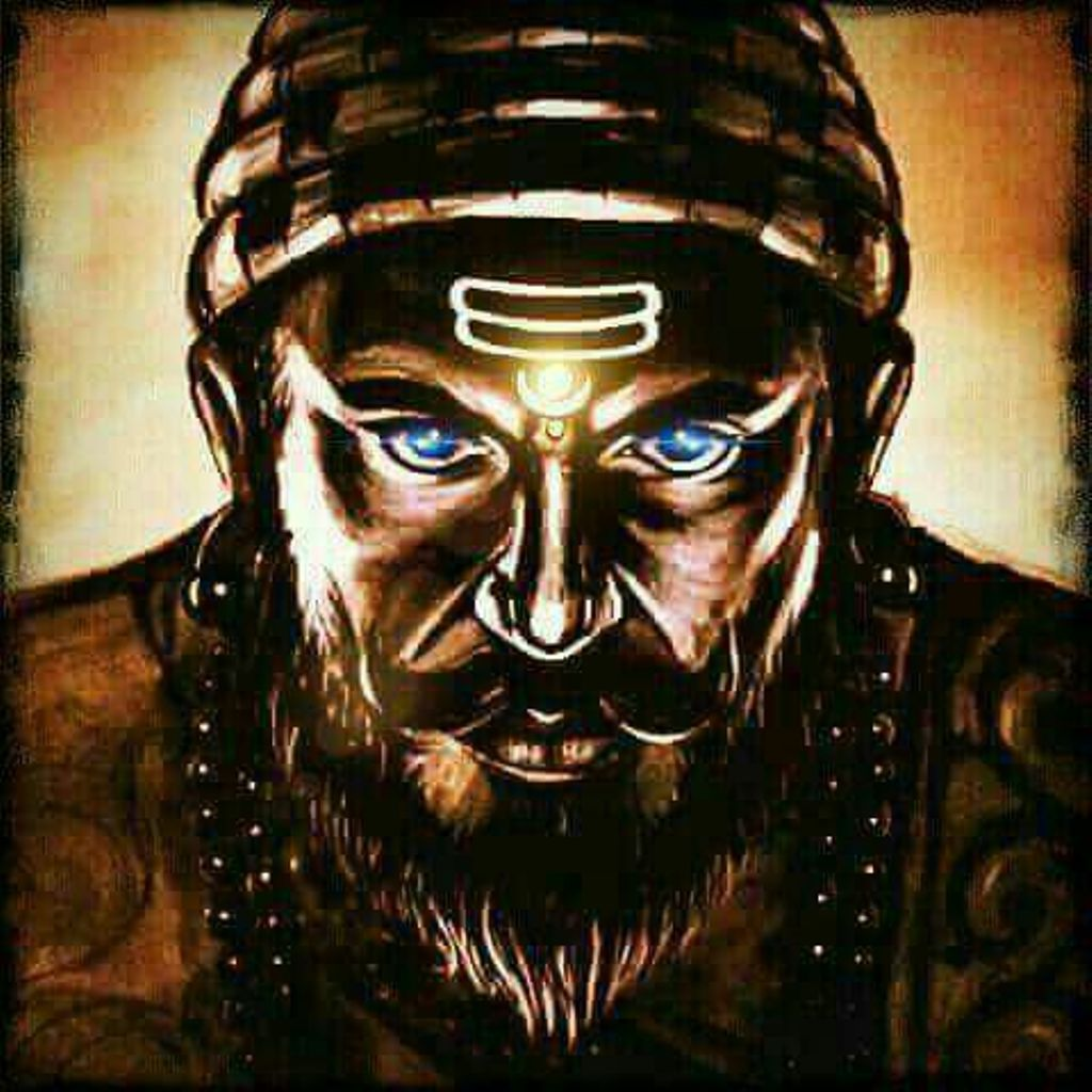 Shivaji Maharaj lightening eyes
