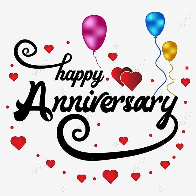 Colorful happy anniversary image