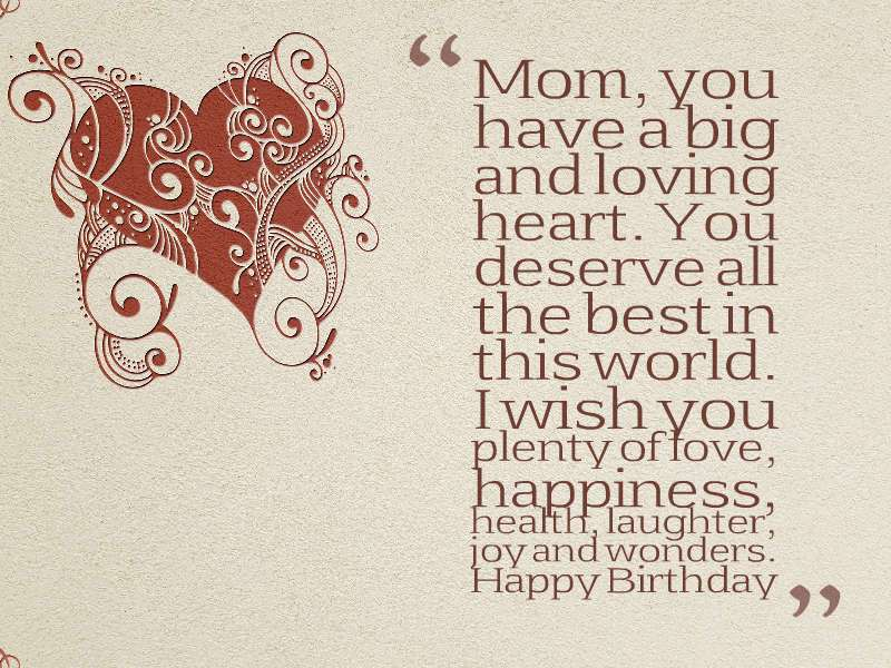 Best birthday wishes for mom!