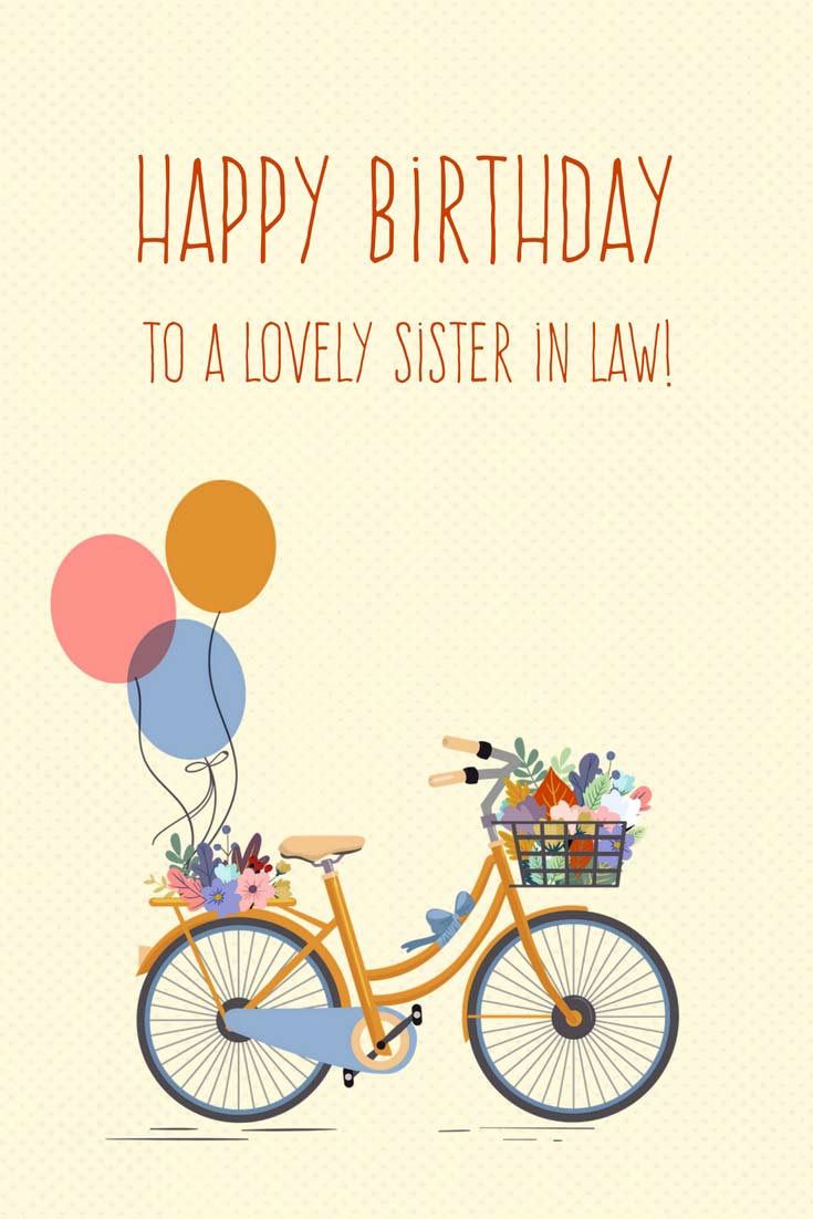 Happy Birhday Card for sister in law
