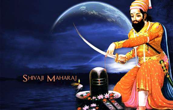 Shivaji Maharaj at Shiv ling