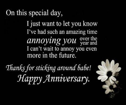 Happy Anniversary Babe!