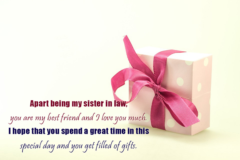 Birthday message for sister in law