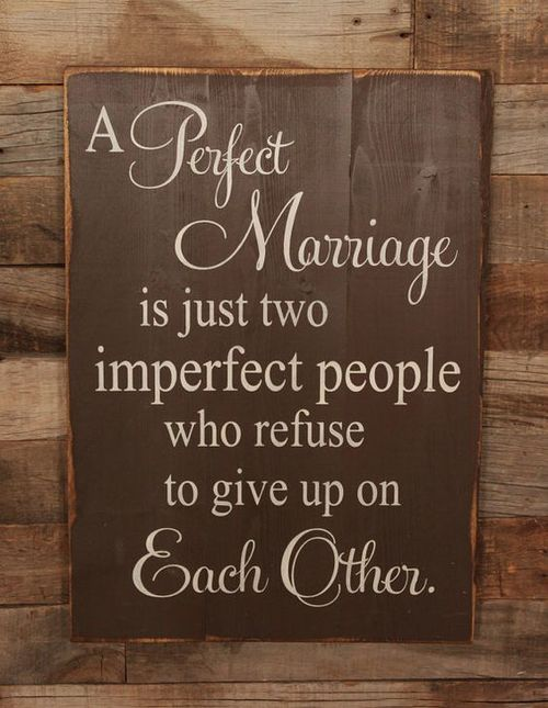 Never give up in marriage