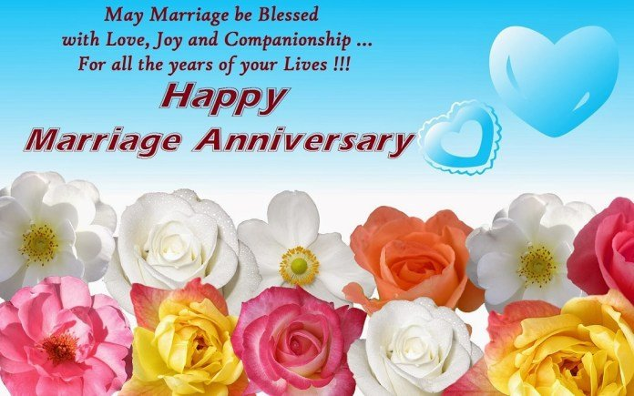 Decorative flowers and anniversary imge