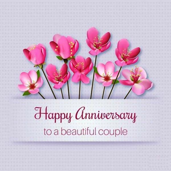 Happy anniversary for beautiful couple