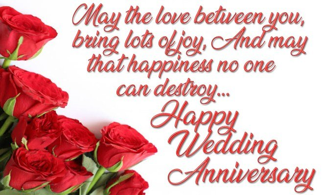 Happy wedding anniversary with lots of love
