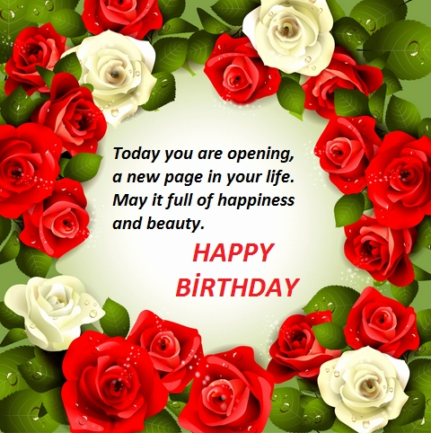 Happy Birthday Wishes With Red Roses Beautiful
