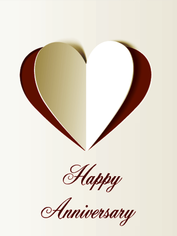 Happy anniversary with awesome heart