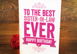Best Happy Birthday sister in law image with card and flower