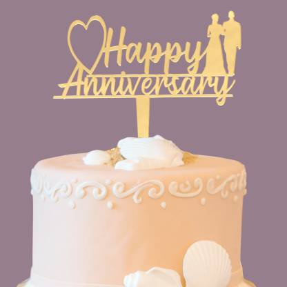 Happy anniversary photo with big cake