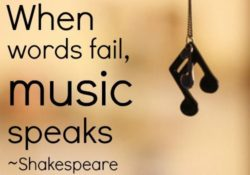 Shakespeare quote on love music