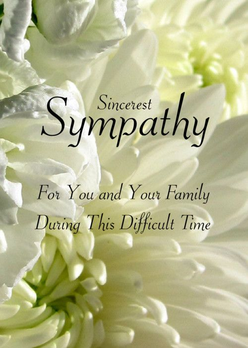 Sincerest Sympathy short message..