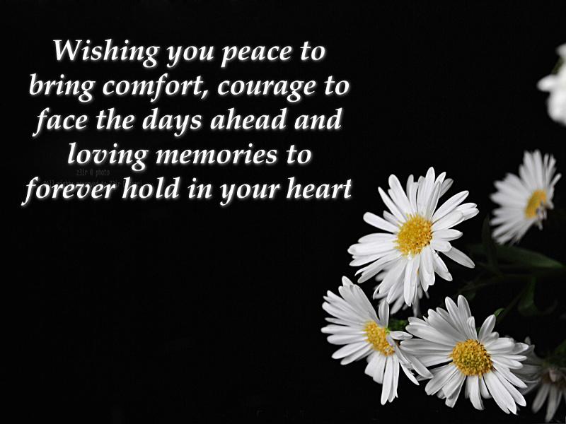 Short condolence msg..